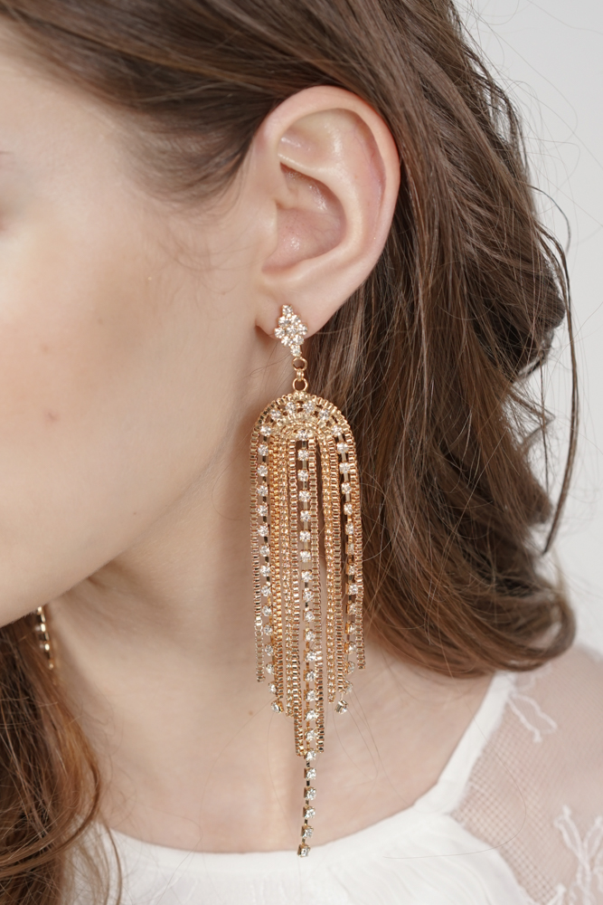 Waterfall Earrings in Gold -  Arriving Soon