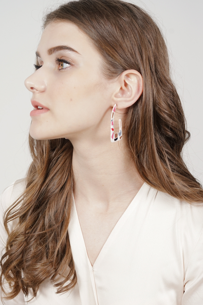 Tilly Earrings in Pink Abstract -  Arriving Soon