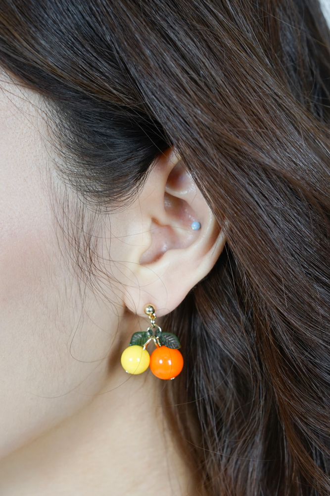 Mandarin Orange Earrings - Arriving Soon