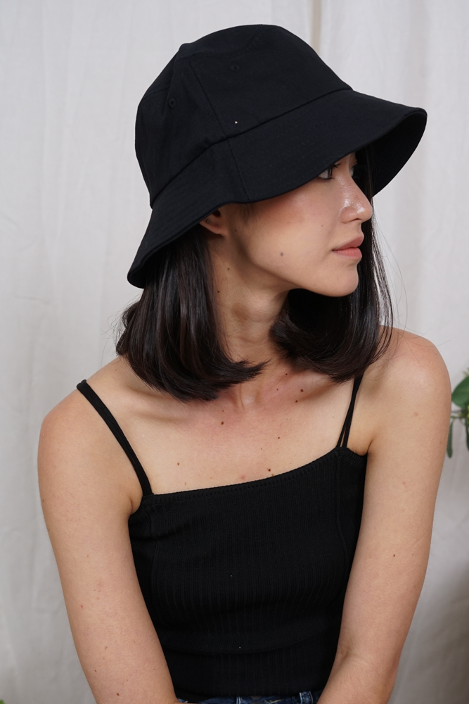 Orli Bucket Hat in Black