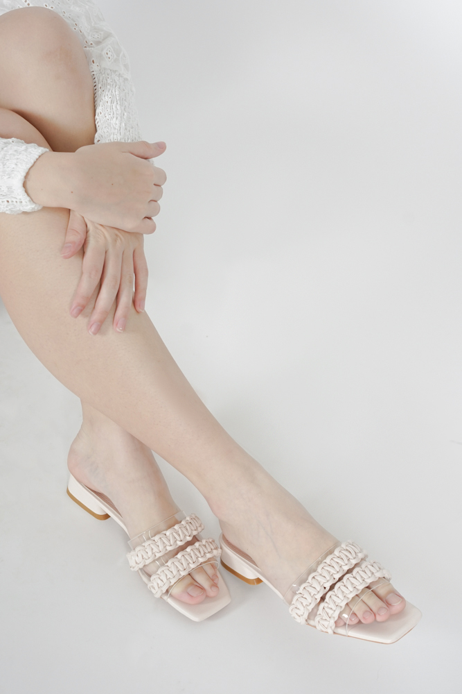 Cherylle Mules in Cream - Arriving Soon