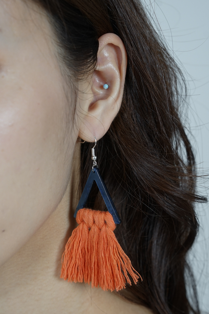 Galen Earrings in Rust - Arriving Soon