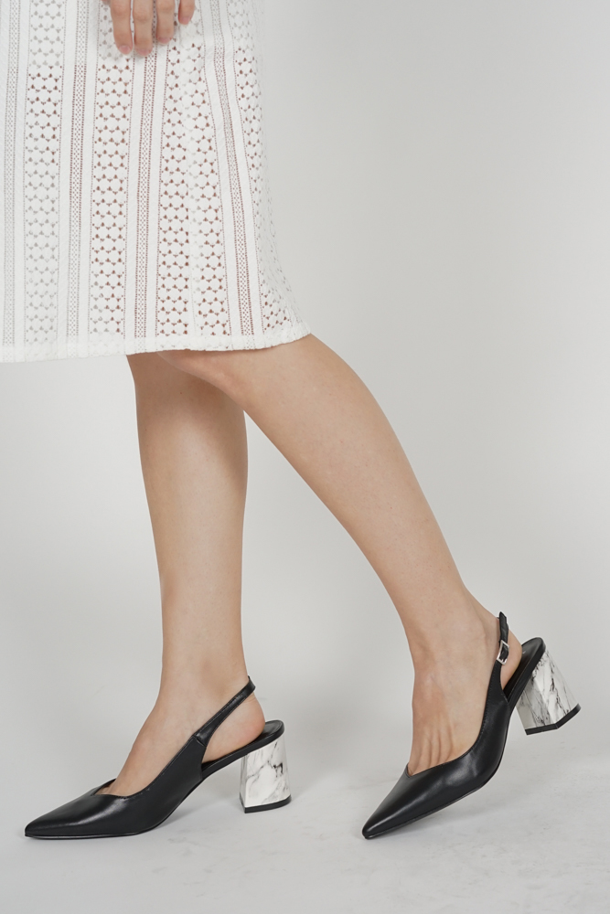 Marlo Slingbacks in Black - Arriving Soon