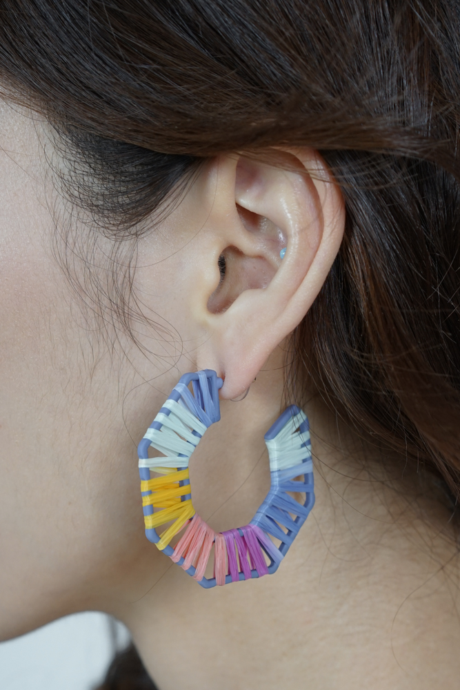 Paisley Beaded Earrings in Sunset - Arriving Soon