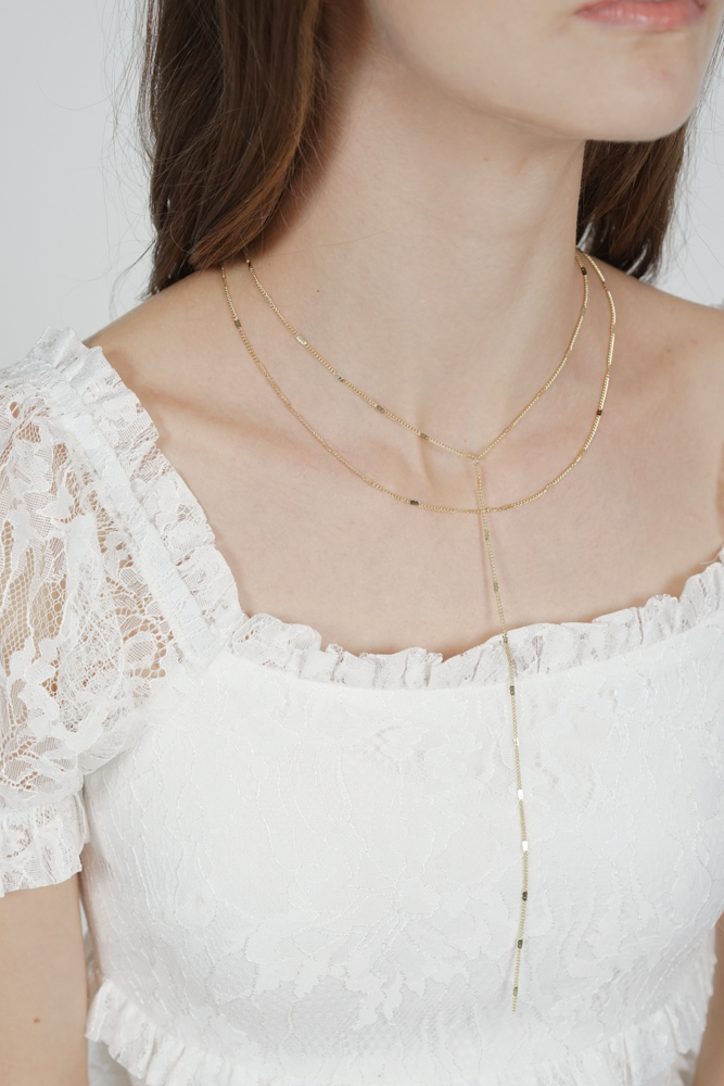 Taryn Two-Piece Necklace in Gold - Arriving Soon