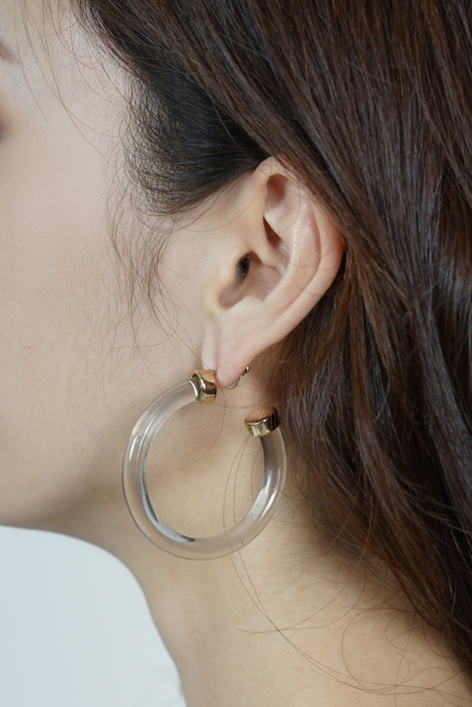 Camron Clear Acetate Earrings - Arriving Soon