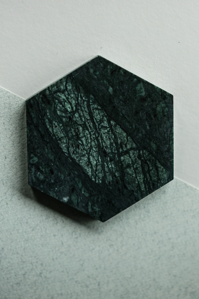 Hexagonal Board in Green Marble - Arriving Soon