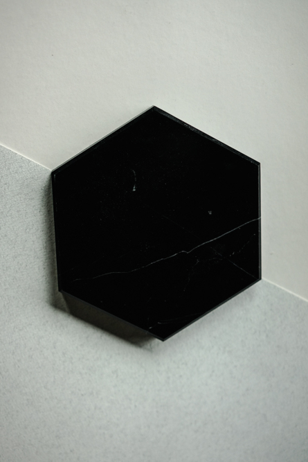 Large Hexagonal Slab in Black Marble - Arriving Soon