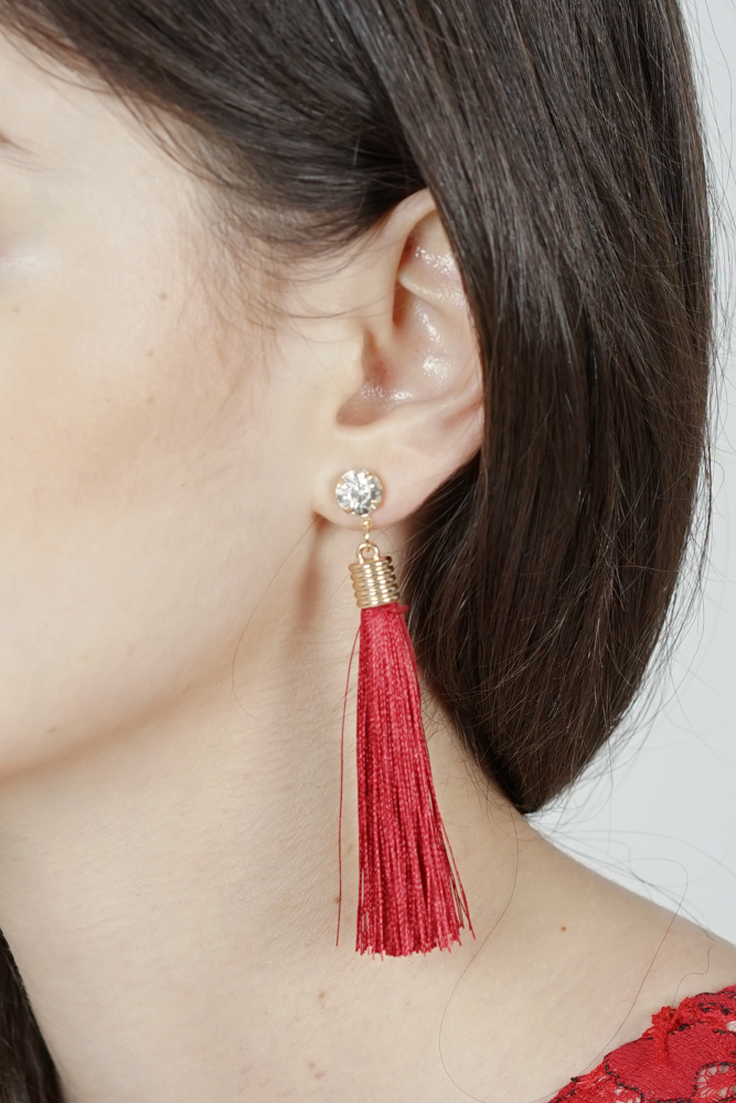 Camille Duster Earrings in Red -  Arriving Soon