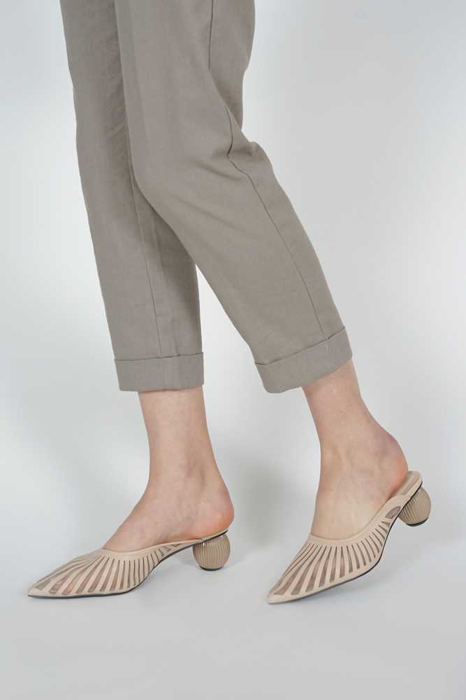 Helios Mules in Beige - Arriving Soon