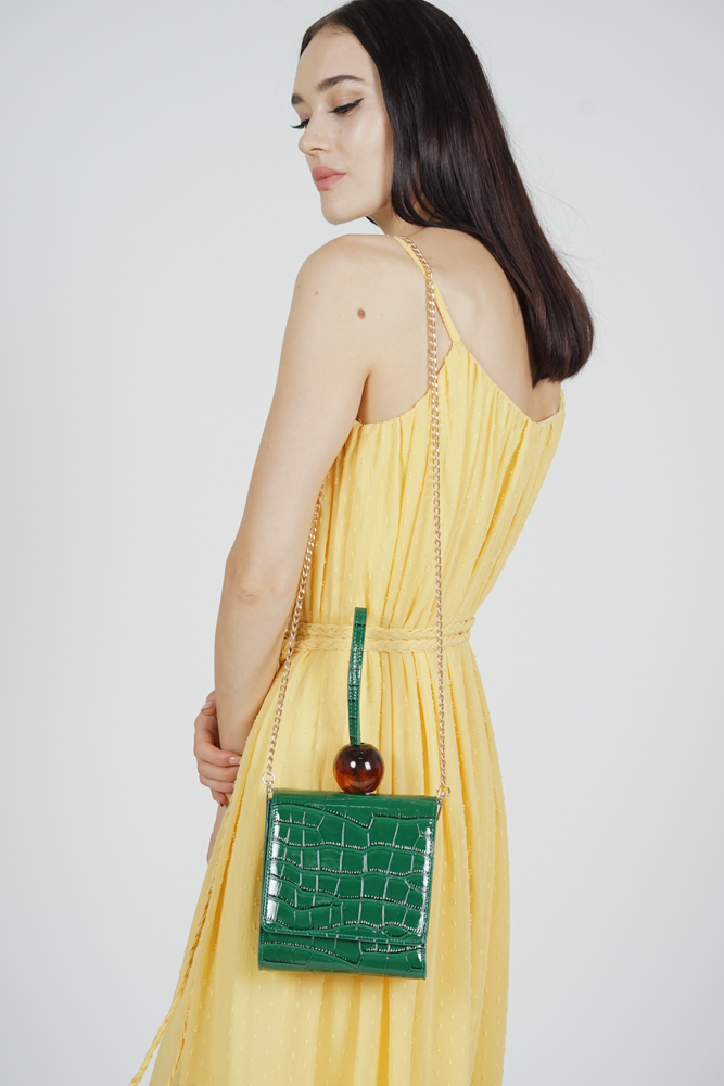 Arya Croc Bag in Green - Arriving Soon