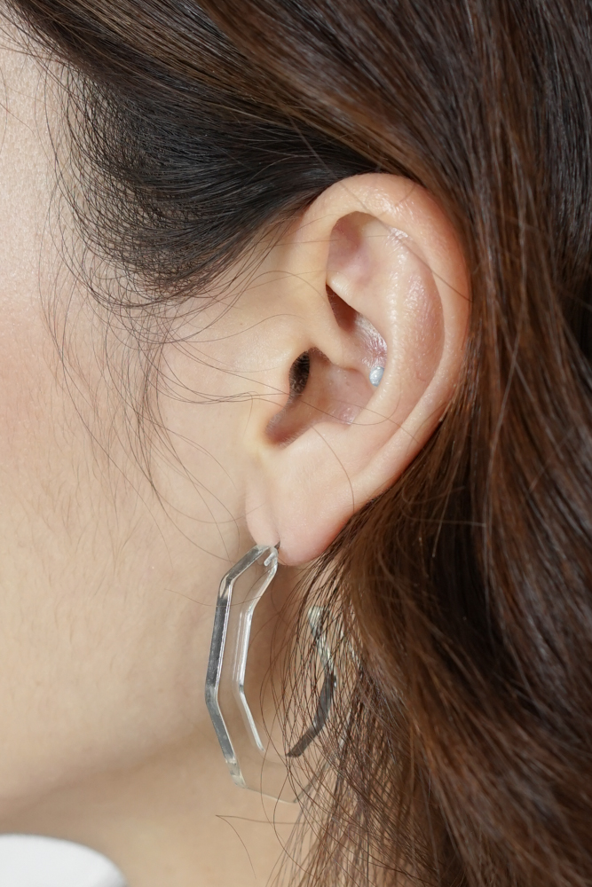Maisie Earrings in Clear - Arriving Soon