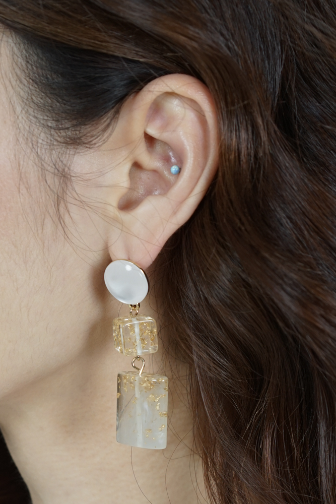Ola Earrings in Frost - Arriving Soon