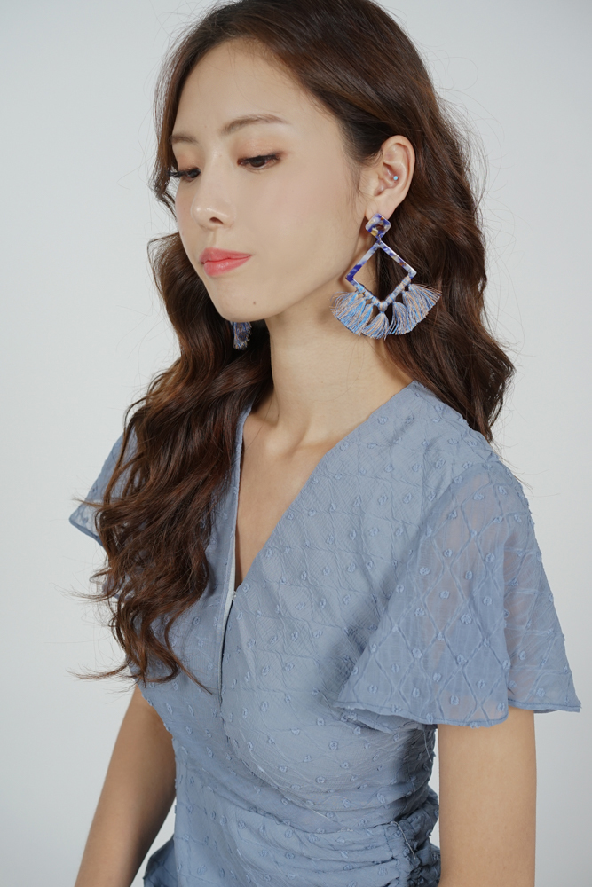 Rezna Tassel Earrings in Blue - Arriving Soon