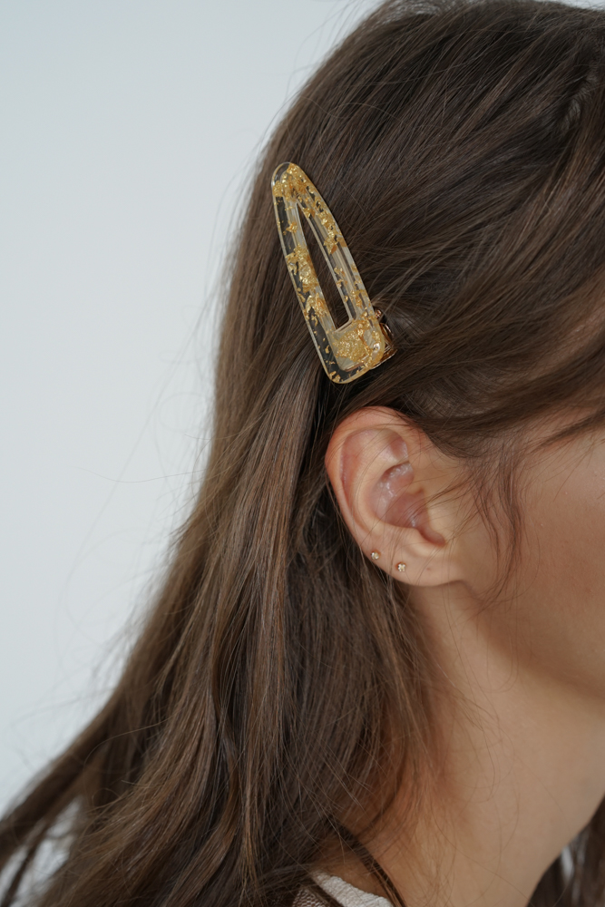 Junie Hair Slide in Gold- Arriving Soon