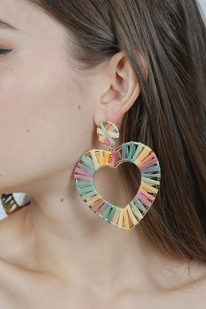 Corazon Earrings in Multi - Arriving Soon