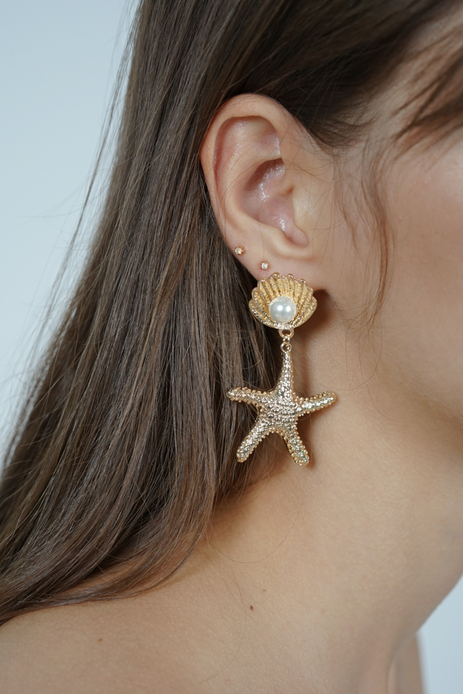 Seastar Earrings in Gold- Arriving Soon