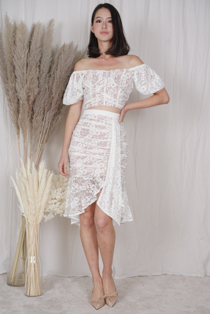 Armin Lace Top in White - Arriving Soon