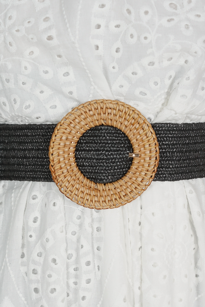 Biddy Straw Belt in Black - Arriving Soon