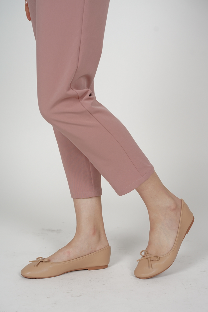 Meera Ballet Flats in Nude - Arriving Soon