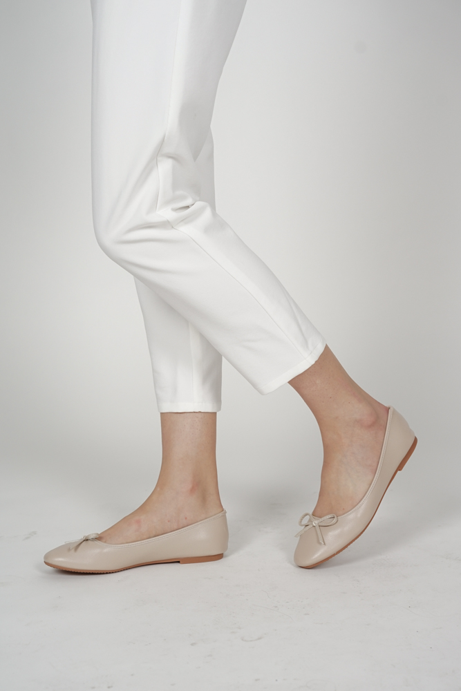 Meera Ballet Flats in Cream - Arriving Soon