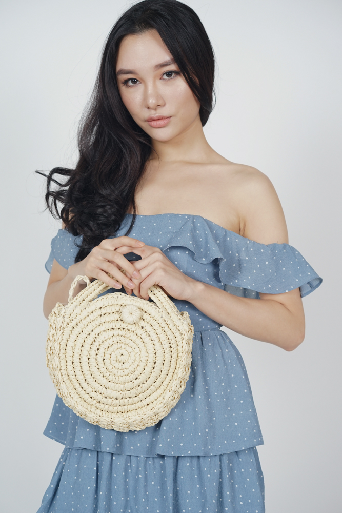 Circle Beach Bag in Ivory - Arriving Soon