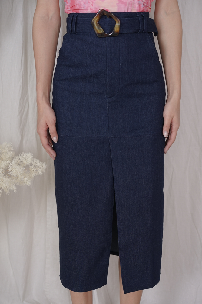 Andriew Denim Skirt in Dark Blue - Arriving Soon
