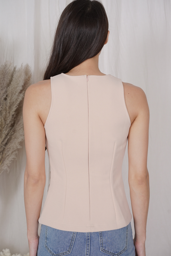 Juju Drape Top in Nude - Arriving Soon