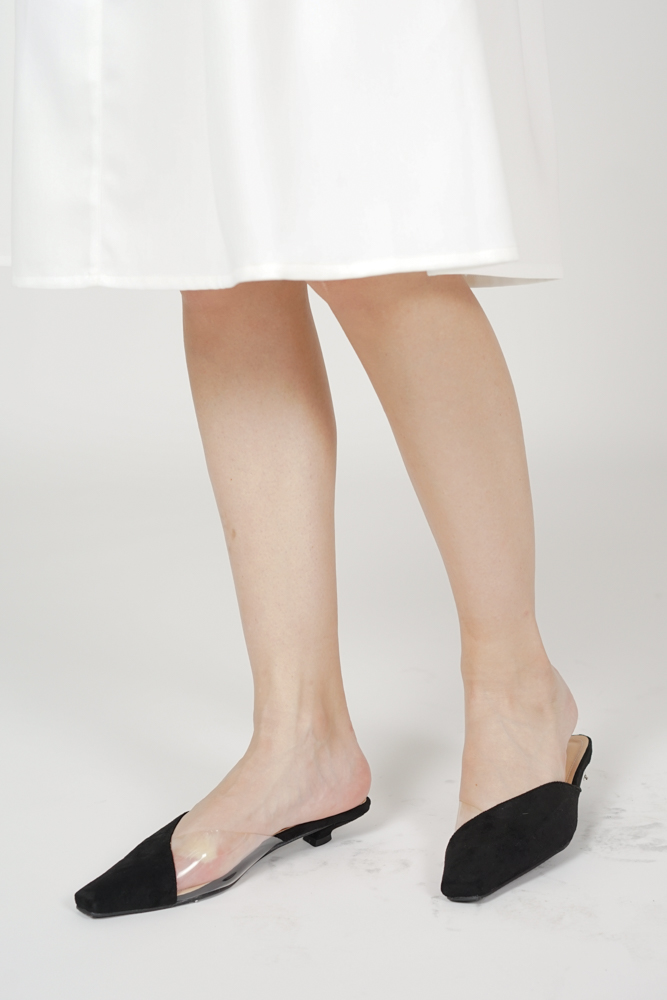 Sunya Mules in Black - Arriving Soon