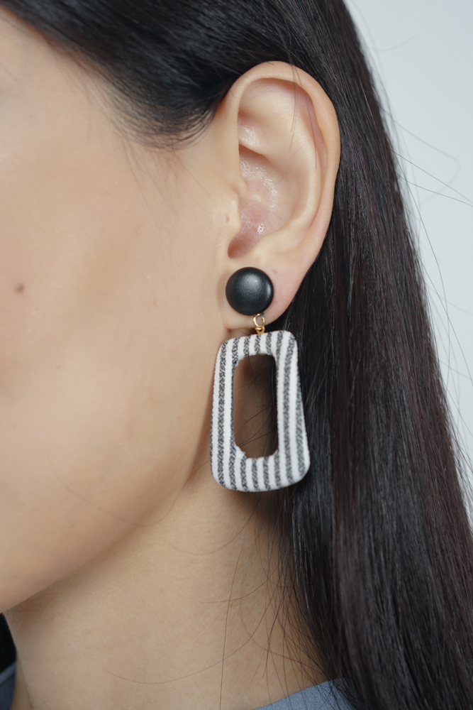 Twiggy Earrings in Zebra Stripes  - Arriving Soon