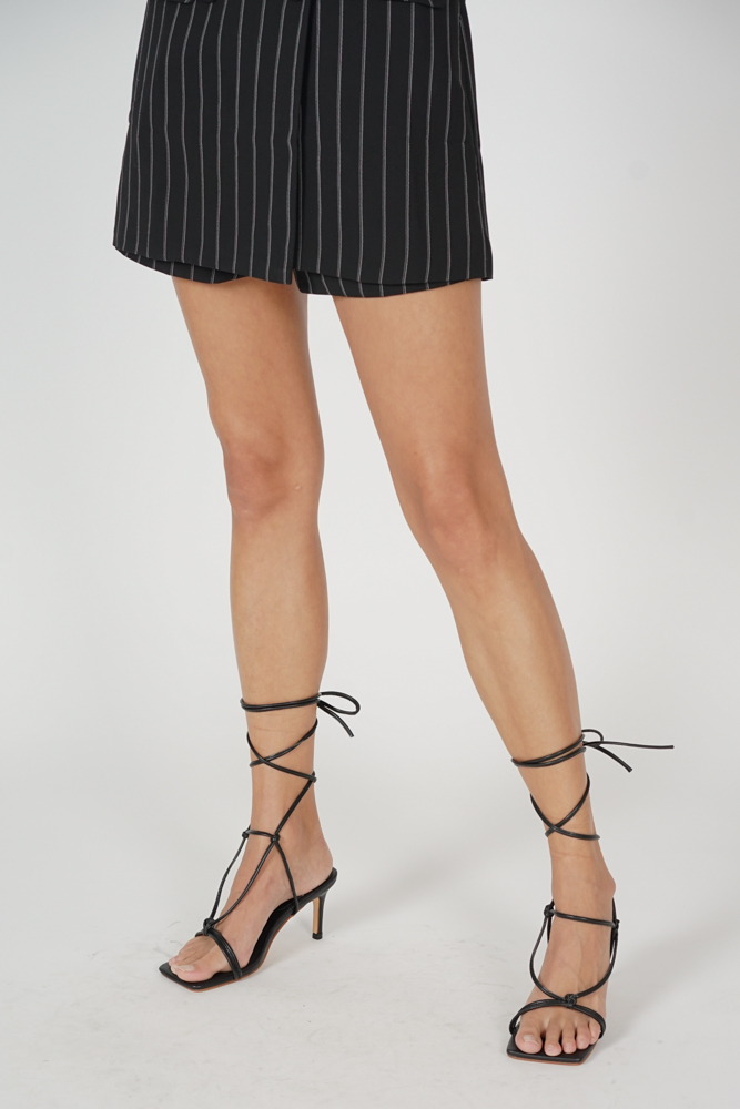 Dasha Tied-Up Heels in Black - Arriving Soon