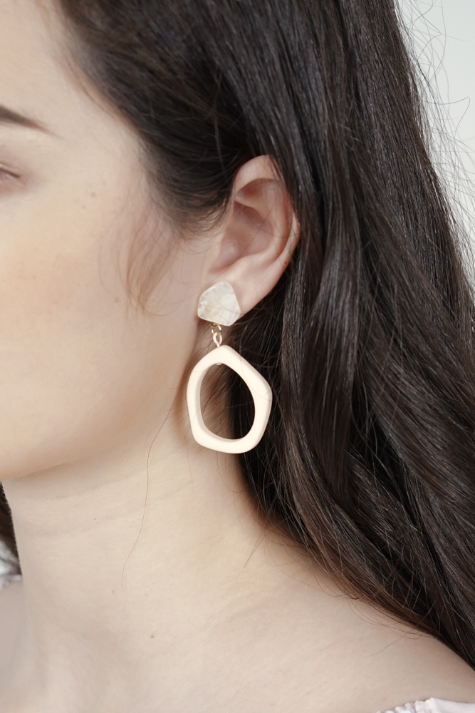 Aidan Earrings in Cream - Arriving Soon