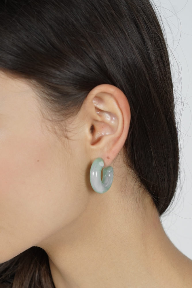Kei Resin Earrings in Mint - Arriving Soon