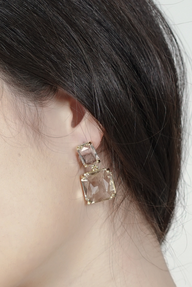 Alayna Earrings in Crystal - Arriving Soon
