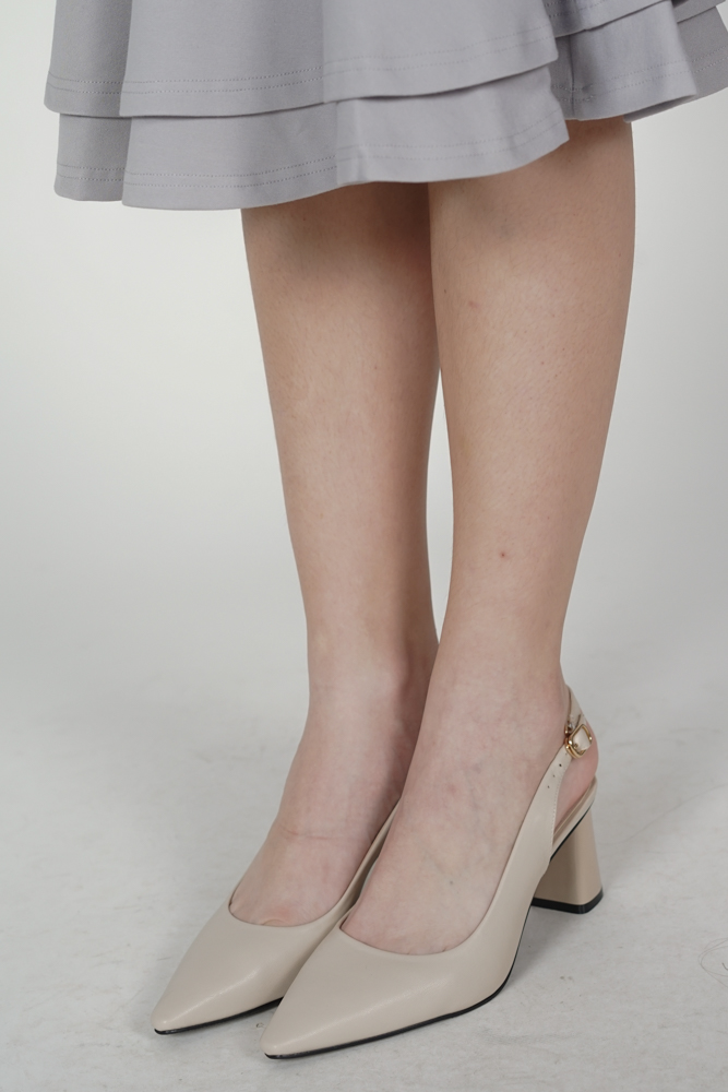 Aurora Pumps in Cream - Arriving Soon