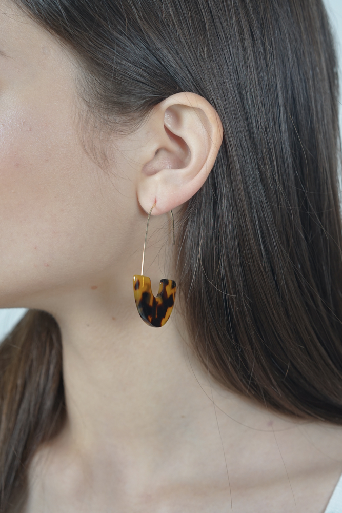 Hook Earrings in Tortoise Shell - Arriving Soon