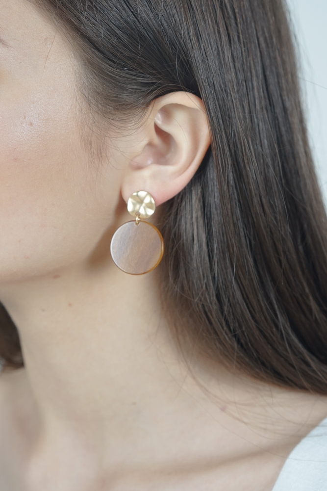 Gold Plated Stud Drop Earrings - Arriving Soon