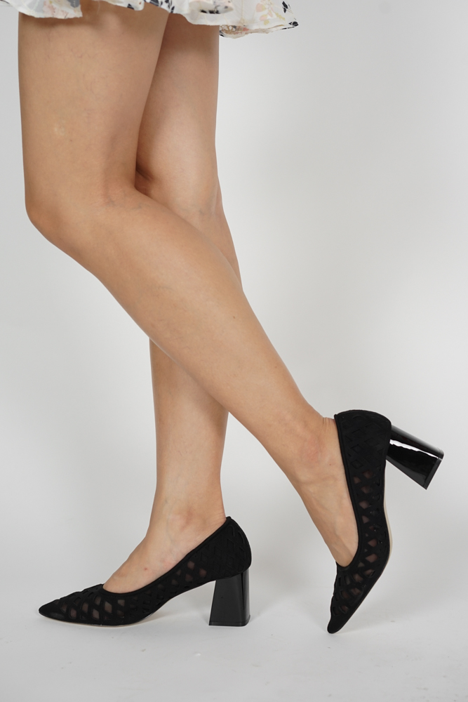 Joey Mesh Pumps in Black - Arriving Soon