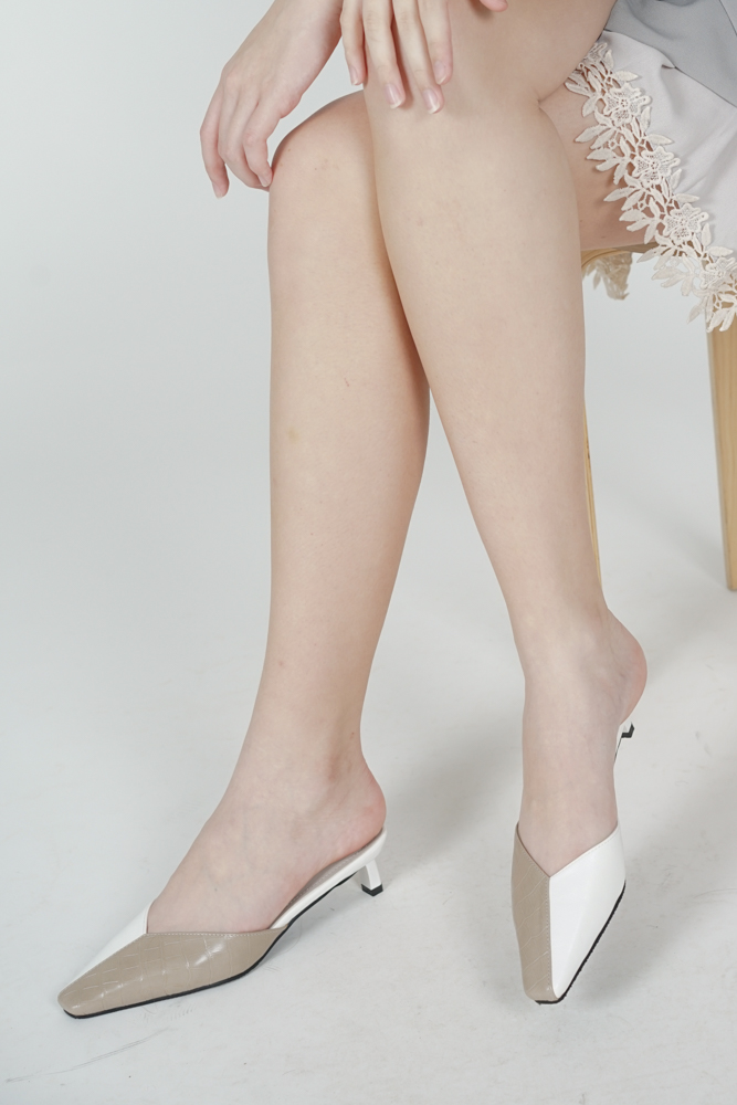 Sinnie Kitten Heels in Nude - Arriving Soon