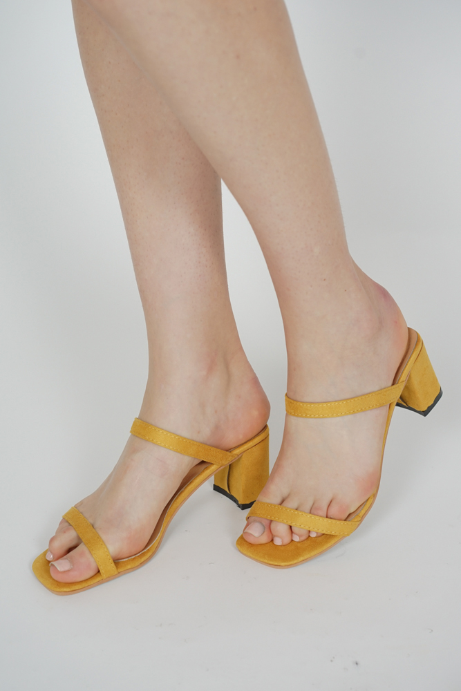 Sulli Heels in Mustard - Arriving Soon