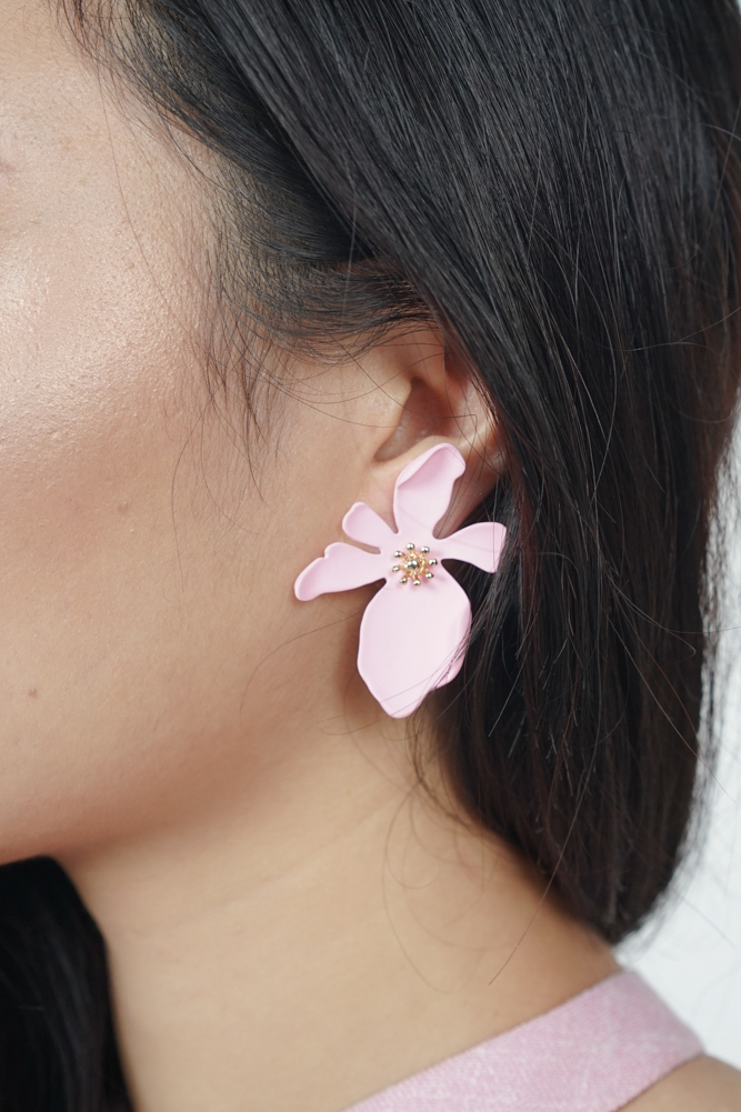 Orchid Lover Earrings in Barbie Pink - Arriving Soon