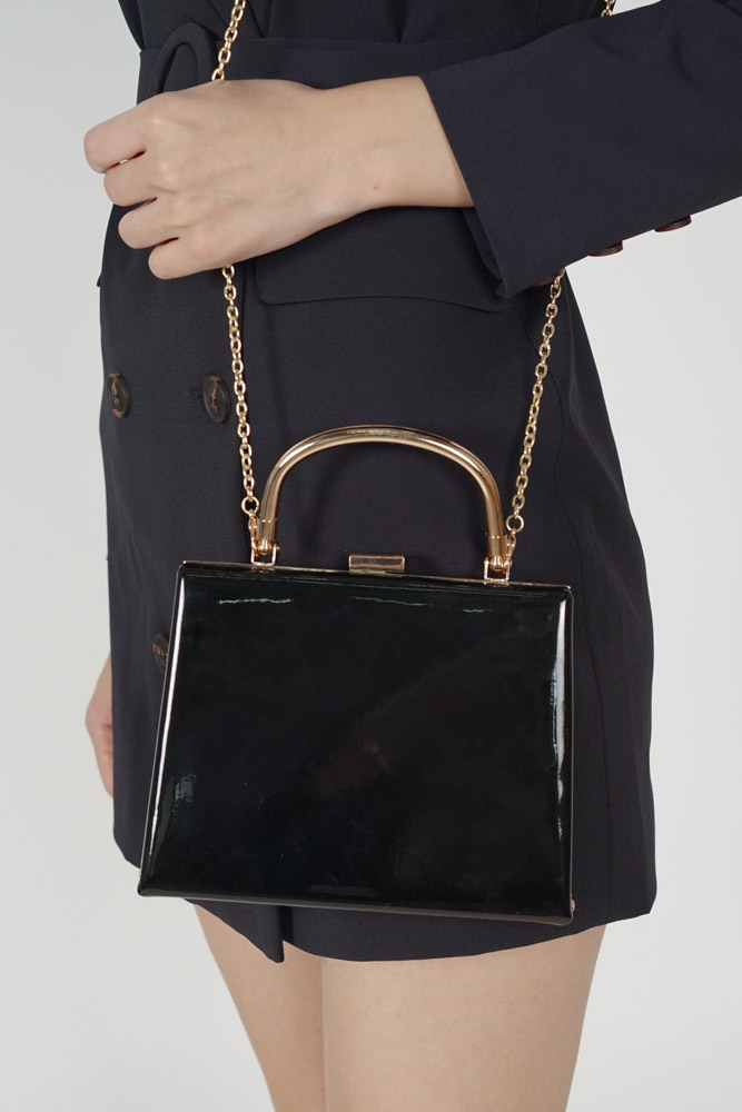 Trapezoid bag in Black - Arriving Soon