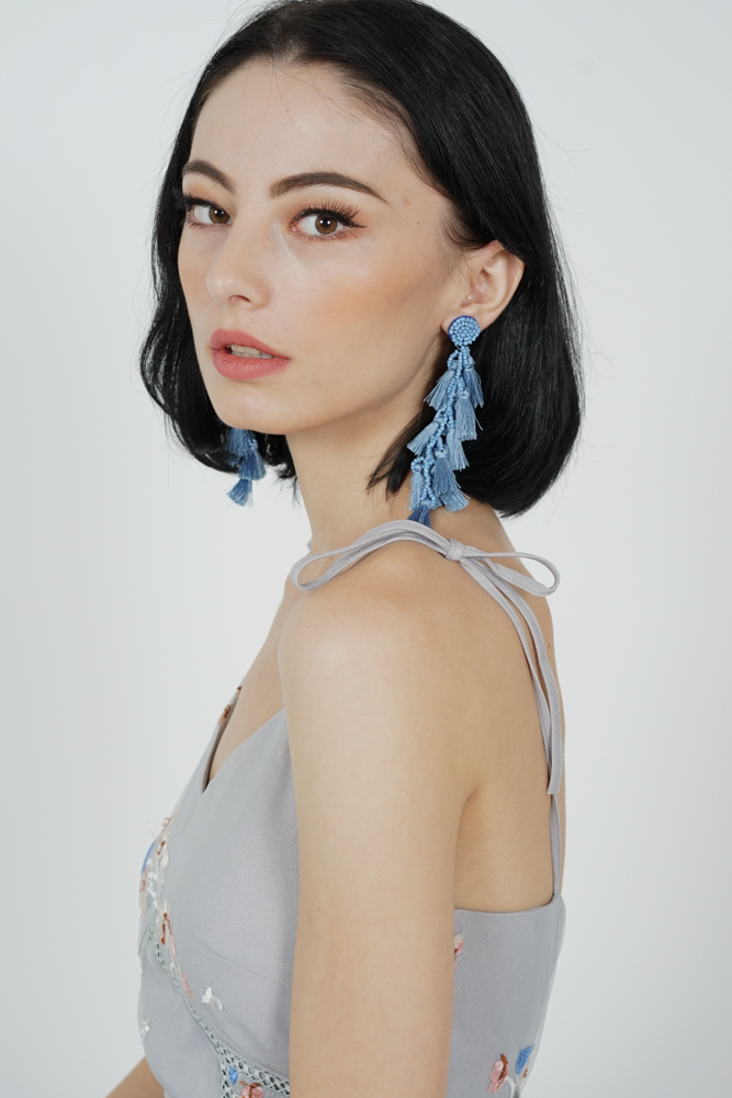 Ina Tassel Earrings in Blue -  Arriving Soon