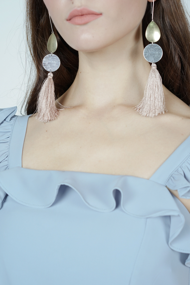 Long Tassel Earrings in Cream  - Arriving Soon