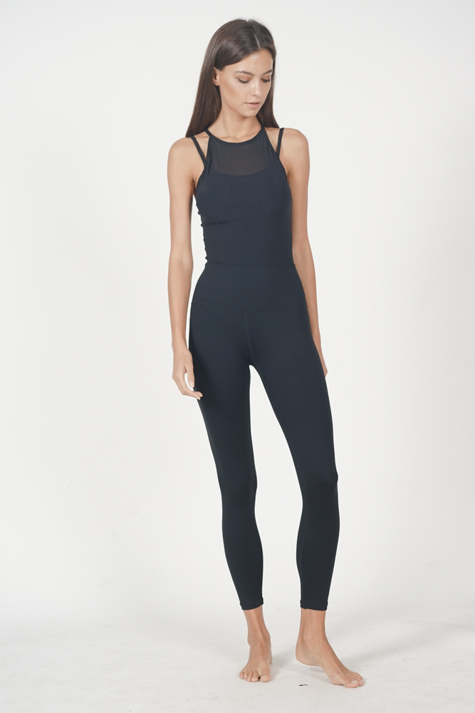 Hi-Rise Yoga Pants in Black - Arriving Soon