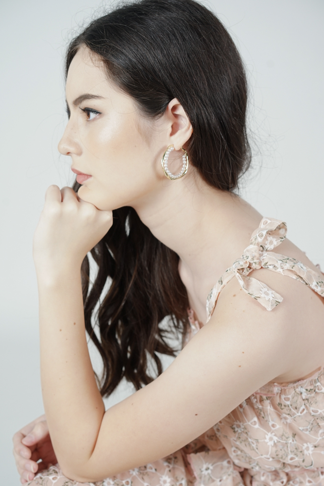 Brigitta Hoop Earrings in Gold - Arriving Soon