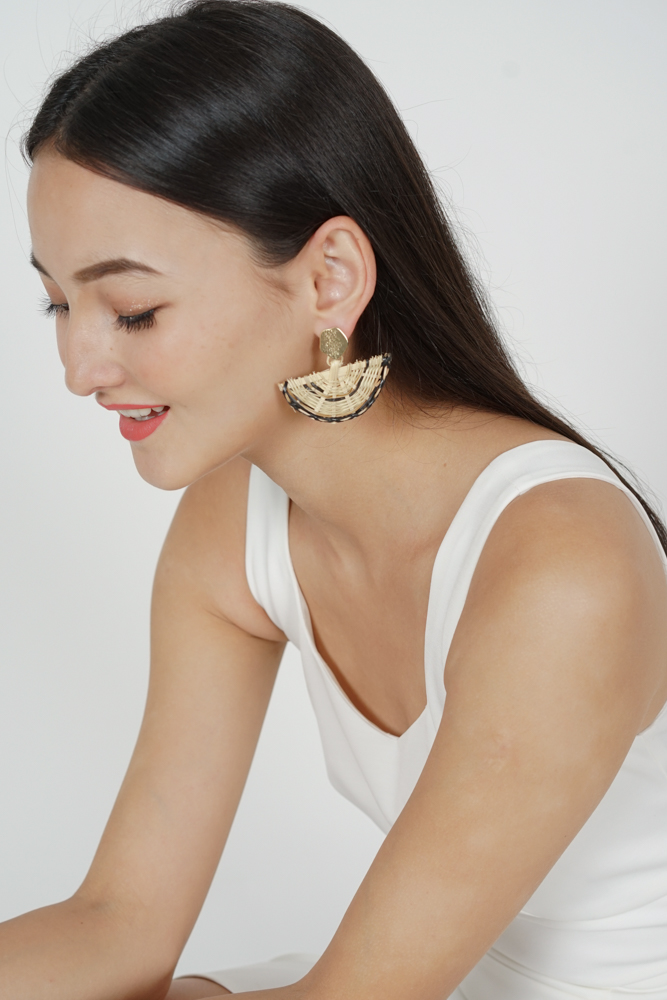 Half Moon Rattan Earrings - Arriving Soon