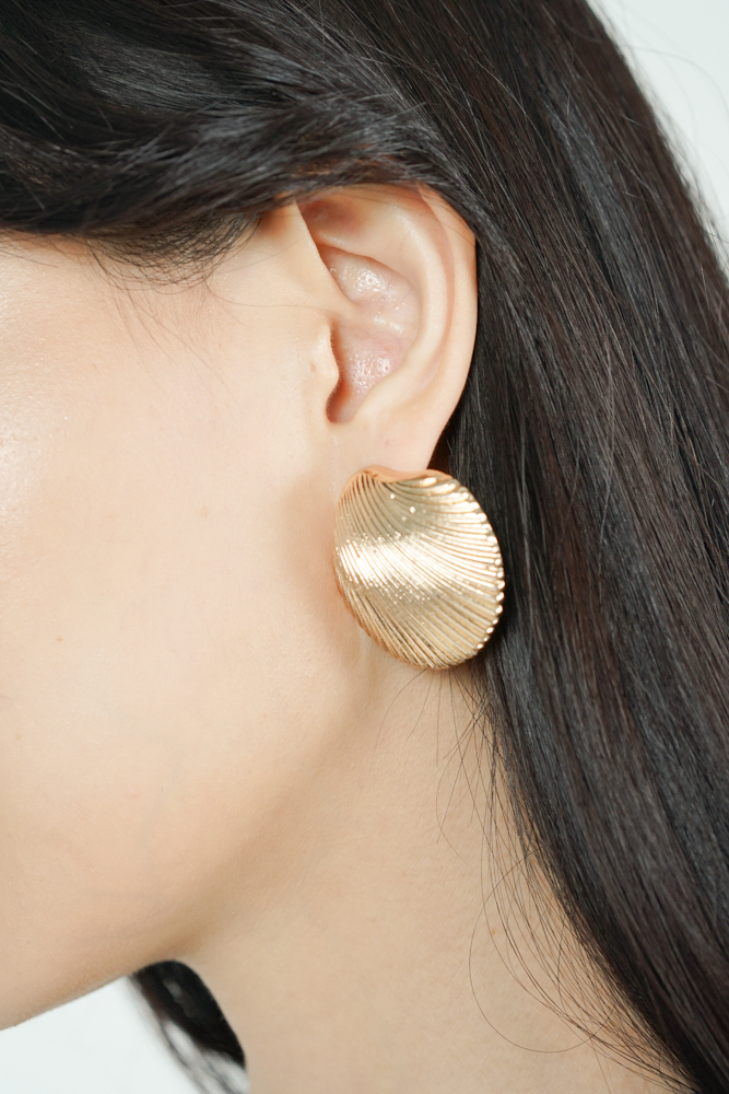 Seashell Earrings in Gold  - Arriving Soon