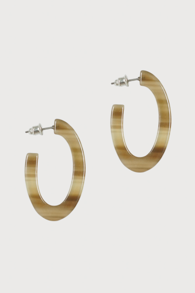 Small Hoop Earrings in Tortoise Shell