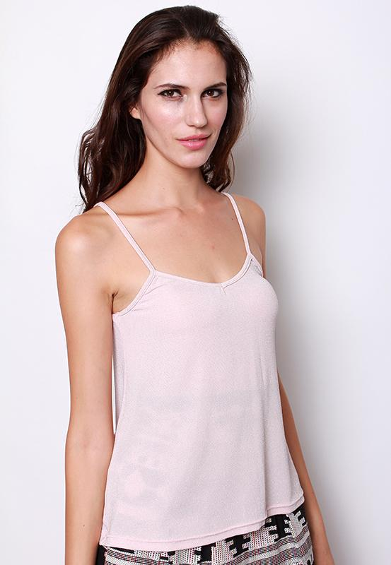 Shimmers in the Night Tank Top in Blush